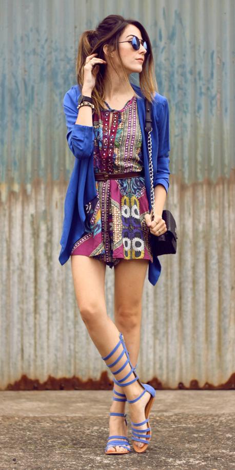 burgundy-jumper-romper-print-blue-navy-jacket-blazer-cobalt-hairr-pony-sun-blue-shoe-sandals-gladiators-spring-summer-weekend.jpg