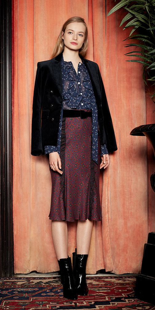 burgundy-midi-skirt-belt-blue-navy-top-blouse-blue-navy-jacket-blazer-black-shoe-booties-blonde-fall-winter-work.jpg