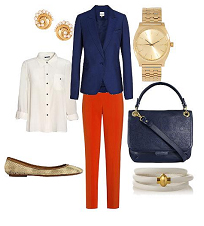 red-slim-pants-white-collared-shirt-blue-navy-jacket-blazer-blue-bag-watch-studs-tan-shoe-flats-snakeskin-companybbqpicnic-howtowear-fashion-style-outfit-spring-summer-work.jpg