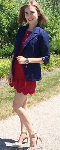 red-jumper-romper-tan-shoe-pumps-hairr-watch-playsuit-howtowear-fashion-style-spring-summer-blue-navy-jacket-blazer-office-work.jpg