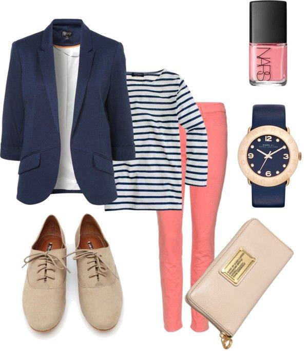 o-peach-skinny-jeans-blue-navy-tee-stripe-blue-navy-jacket-blazer-tan-shoe-brogues-watch-nail-howtowear-fashion-style-outfit-spring-summer-lunch.jpg