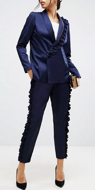 what-to-wear-for-a-winter-wedding-guest-outfit-blue-navy-slim-pants-silk-suit-blue-navy-jacket-blazer-black-shoe-pumps-party-dinner.jpg