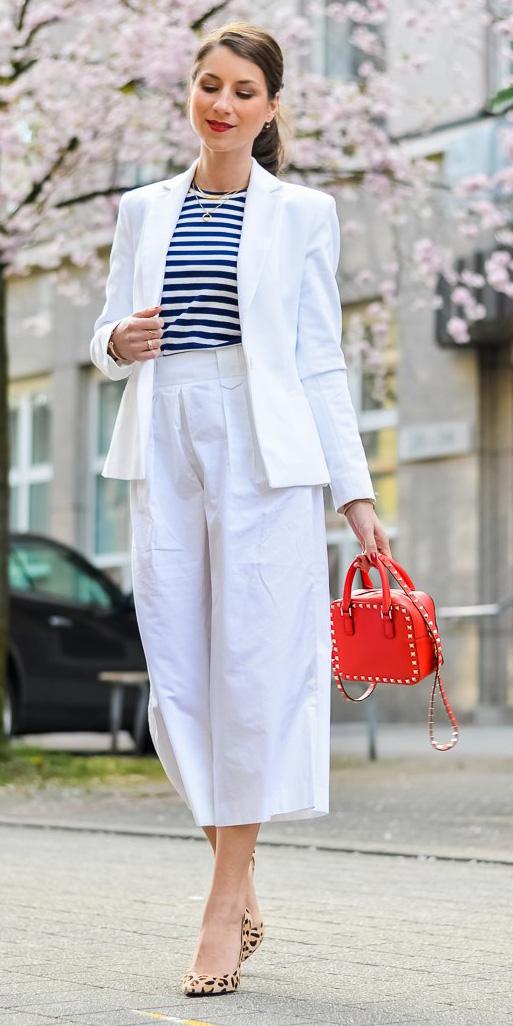 white-culottes-pants-white-jacket-blazer-suit-red-bag-tan-shoe-pumps-leopard-print-stripe-hairr-pony-spring-summer-lunch.jpg
