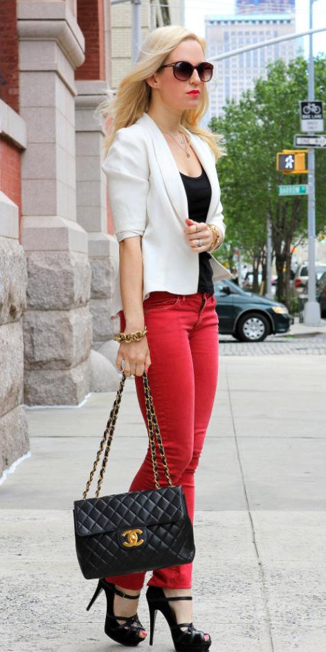 red-skinny-jeans-black-tee-white-jacket-blazer-necklace-black-bag-sun-black-shoe-sandalh-howtowear-fashion-style-outfit-spring-summer-lunch-blonde-work.jpg