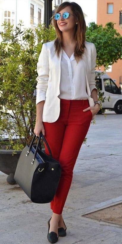 red-slim-pants-white-top-blouse-black-bag-howtowear-fashion-style-outfit-spring-summer-white-jacket-blazer-black-shoe-pumps-sun-hairr-work.jpg