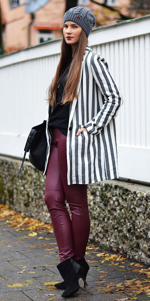 burgundy-skinny-jeans-black-tee-white-jacket-blazer-vertical-stripe-hairr-beanie-black-shoe-booties-fall-winter-lunch.jpg