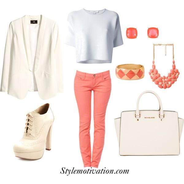 orange-skinny-jeans-white-top-white-jacket-blazer-white-shoe-booties-white-bag-bib-necklace-studs-bracelet-howtowear-fashion-style-outfit-spring-summer-lunch-work.jpg