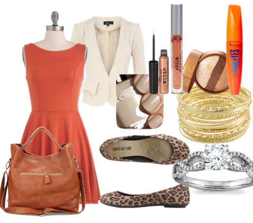 orange-dress-white-jacket-blazer-crop-tan-shoe-flats-cognac-bag-howtowear-fashion-style-outfit-spring-summer-aline-leopard-bracelet-office-nail-work.jpg
