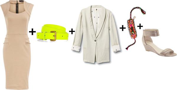 how-to-style-tan-dress-bodycon-shift-white-jacket-blazer-belt-white-shoe-sandals-spring-summer-fashion-work.jpg