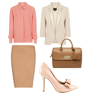 o-tan-pencil-skirt-o-peach-top-blouse-white-jacket-blazer-cognac-bag-hand-howtowear-fashion-style-outfit-spring-summer-silk-tan-shoe-pumps-work.jpg