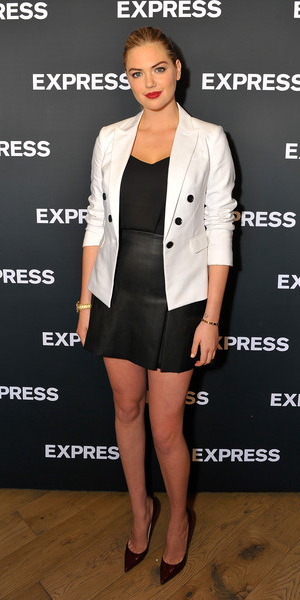 black-mini-skirt-black-cami-white-jacket-blazer-bun-watch-wear-style-fashion-spring-summer-kateupton-burgundy-shoe-pumps-blonde-dinner.jpg