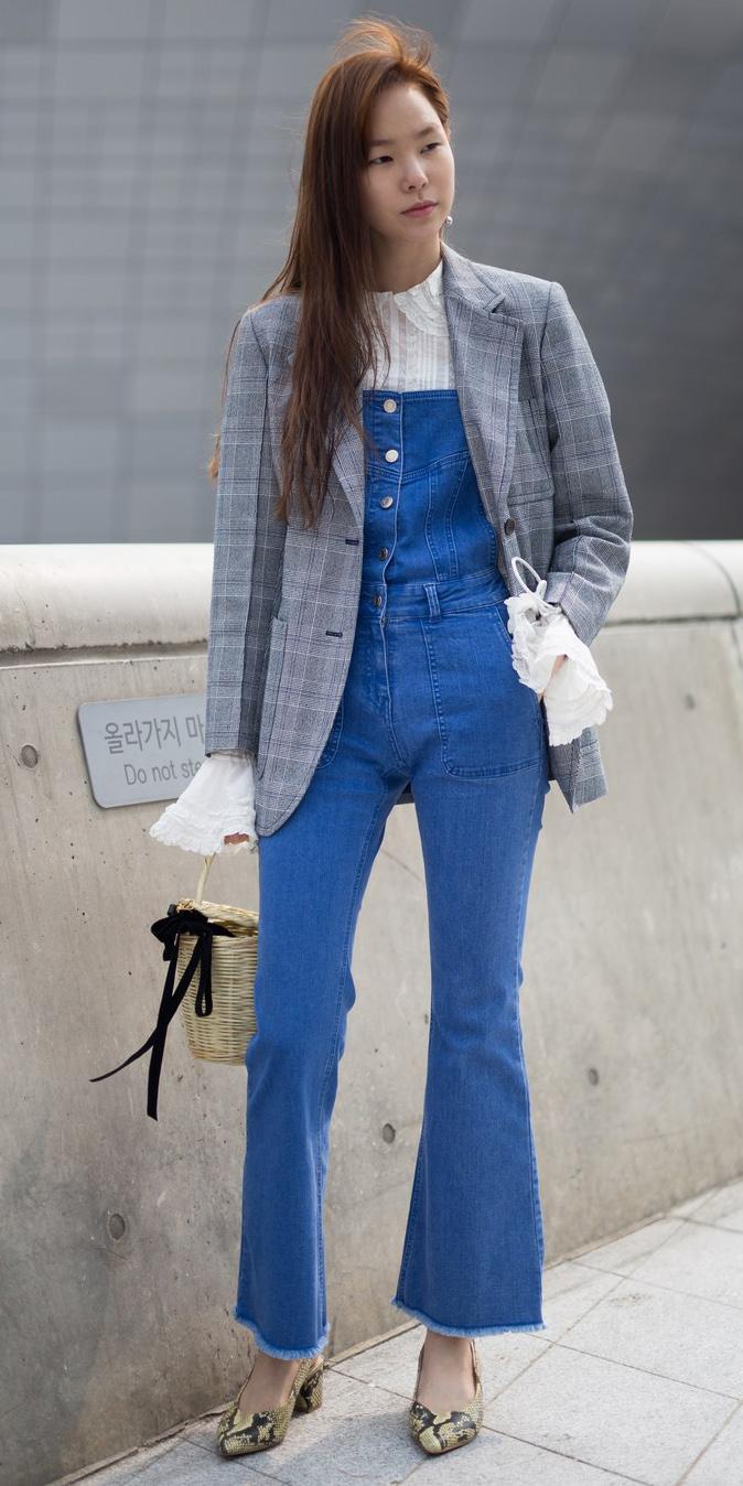blue-med-jumpsuit-overalls-denim-white-top-blouse-bellsleeve-yellow-shoe-pumps-snakeskin-grayl-jacket-blazer-fall-winter-hairr-lunch.jpg