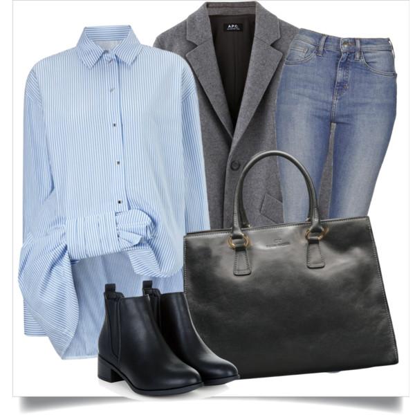 blue-med-skinny-jeans-blue-light-collared-shirt-howtowear-style-fashion-spring-summer-grayl-jacket-blazer-pinstripe-black-bag-tote-black-shoe-booties-work.jpg