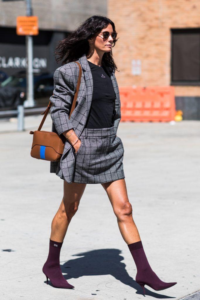 grayl-mini-skirt-black-tee-plaid-skirtsuit-grayl-jacket-blazer-brun-sun-cognac-bag-burgundy-shoe-booties-fall-winter-lunch.jpg