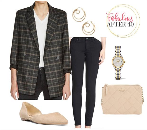 black-skinny-jeans-tan-shoe-flats-watch-hoops-plaid-grayd-jacket-blazer-boyfriend-fall-winter-lunch.jpg