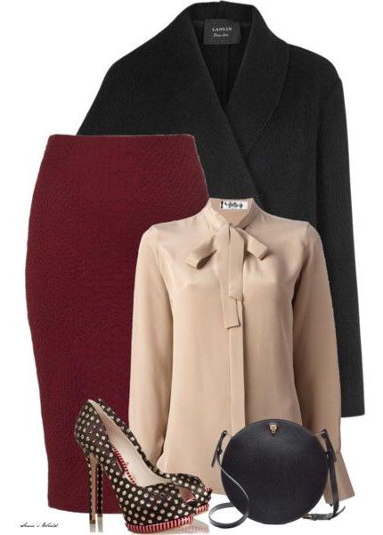 r-burgundy-pencil-skirt-o-tan-top-blouse-black-jacket-blazer-black-bag-howtowear-fashion-style-outfit-fall-winter-bow-black-shoe-pumps-dot-work.jpg