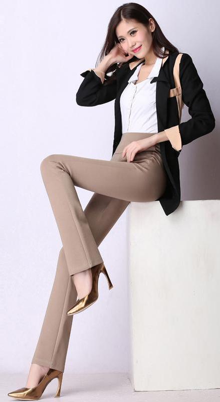 tan-wideleg-pants-white-collared-shirt-black-jacket-blazer-tan-shoe-pumps-fall-winter-brun-work.jpg