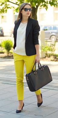 yellow-slim-pants-white-top-blouse-black-jacket-blazer-black-shoe-pumps-sun-black-bag-howtowear-fashion-style-outfit-spring-summer-hairr-work.jpg