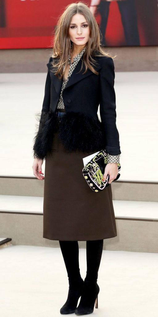 o-brown-midi-skirt-green-olive-top-blouse-print-oliviapalermo-wear-outfit-fall-winter-black-shoe-pumps-feather-black-jacket-blazer-black-tights-hairr-dinner.jpg