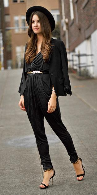 black-jumpsuit-belt-black-jacket-blazer-hat-black-shoe-sandalh-mono-howtowear-fall-winter-hairr-dinner.jpg