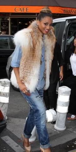 blue-med-boyfriend-jeans-blue-light-collared-shirt-tan-vest-fur-tan-shoe-pumps-bun-howtowear-fashion-style-outfit-fall-winter-ciara-basic-lunch.jpg