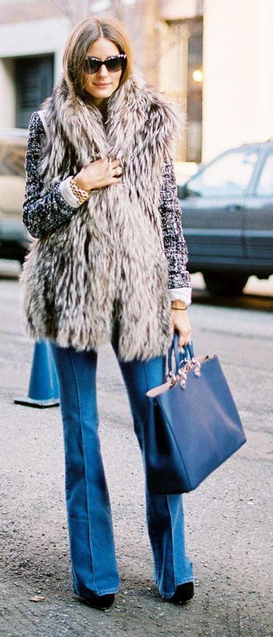 blue-med-flare-jeans-tan-vest-fur-black-bag-tote-sun-black-shoe-booties-wear-fashion-style-fall-winter-hairr-celebrity-oliviapalermo-dinner.jpg