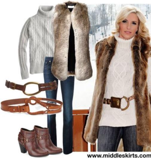 blue-navy-skinny-jeans-white-sweater-tan-vest-fur-howtowear-fashion-style-outfit-fall-winter-wide-belt-turtleneck-brown-shoe-booties-blonde-lunch.jpg