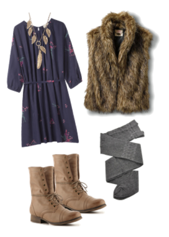 grayd-dress-zprint-floral-tan-vest-fur-tan-shoe-booties-gray-tights-necklace-peasant-wear-style-fashion-fall-winter-lunch.jpg