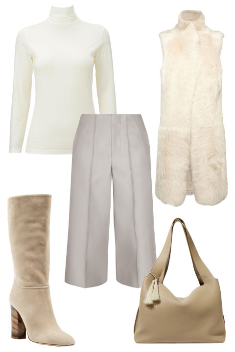 white-culottes-pants-white-sweater-tan-shoe-boots-tan-bag-howtowear-fashion-style-outfit-fall-winter-mono-white-vest-fur-turtleneck-lunch.jpg