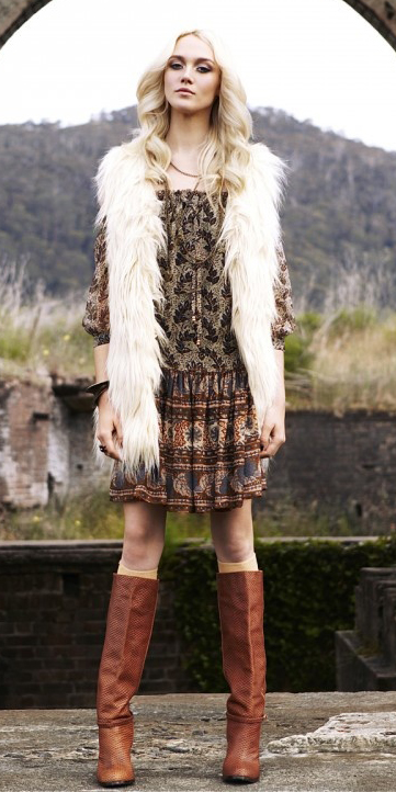 o-brown-dress-zprint-white-vest-fur-cognac-shoe-boots-howtowear-fashion-style-outfit-fall-winter-peasant-blonde-lunch.jpg