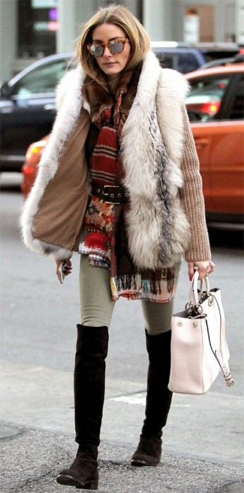 green-olive-skinny-jeans-o-tan-sweater-style-outfit-fall-winter-oliviapalermo-celebrity-brown-shoe-boots-street-white-vest-fur-belt-red-scarf-sun-white-bag-hairr-lunch.jpg