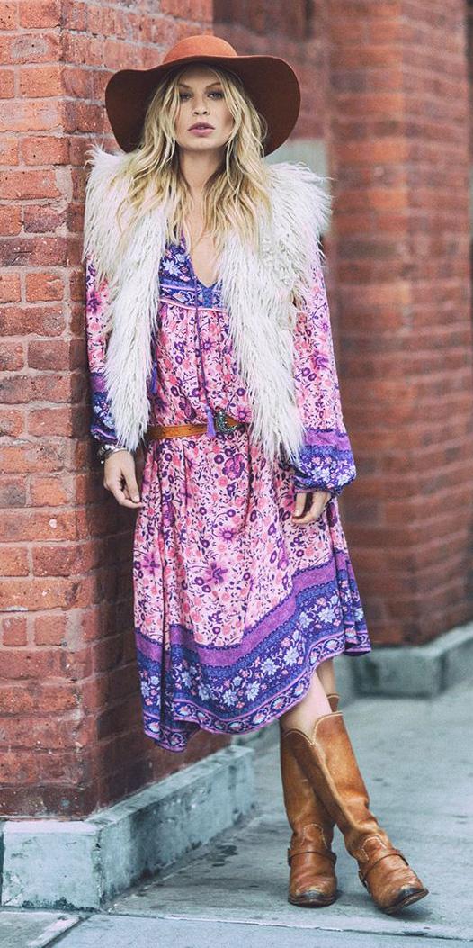 purple-royal-dress-peasant-print-white-vest-fur-hat-cognac-shoe-boots-fall-winter-blonde-lunch.jpg