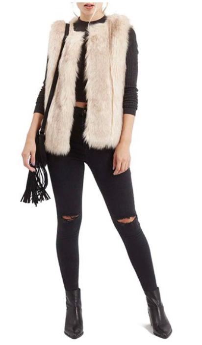 black-skinny-jeans-black-tee-crop-howtowear-style-fashion-fall-winter-black-shoe-booties-white-vest-fur-rip-black-bag-dinner.jpg