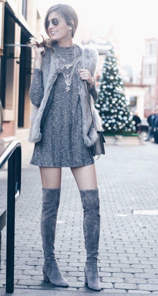 grayl-dress-mini-grayl-vest-fur-necklace-gray-shoe-boots-otk-christmas-holiday-fall-winter-lunch.jpeg