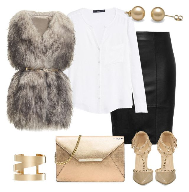 black-pencil-skirt-white-top-blouse-grayl-vest-fur-fuzz-bracelet-tan-bag-gold-tan-shoe-pumps-studs-leather-fall-winter-dinner.jpg