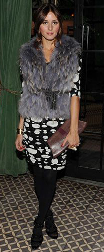 black-dress-zprint-graphic-grayl-vest-fur-black-tights-howtowear-fashion-style-outfit-fall-winter-celebrity-bodycon-clutch-oliviapalermo-hairr-dinner.jpg