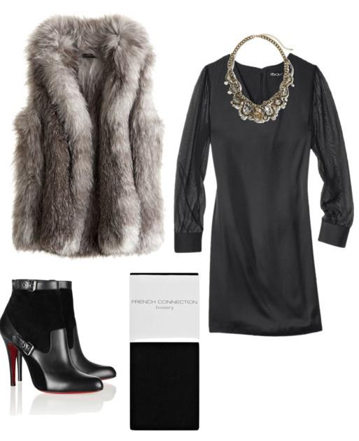 black-dress-grayl-vest-fur-black-shoe-booties-black-tights-howtowear-fashion-style-outfit-fall-winter-basic-necklace-bib-mini-lbd-dinner.jpeg
