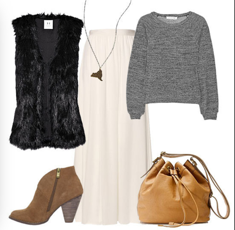 white-maxi-skirt-grayl-sweater-pend-necklace-wear-style-fashion-fall-winter-black-vest-fur-tan-shoe-booties-bucket-tan-bag-lunch.jpg