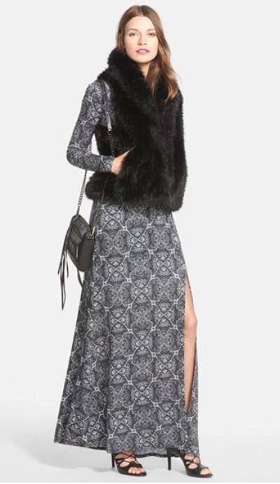 grayl-dress-zprint-black-vest-fur-black-shoe-sandalh-black-bag-howtowear-fall-winter-maxi-hairr-dinner.jpg