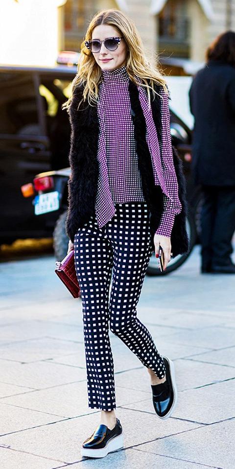 black-slim-pants-purple-royal-top-blouse-black-vest-fur-sun-black-shoe-loafers-howtowear-fashion-style-outfit-fall-winter-checks-tie-platform-olivia-palermo-celebrity-street-hairr-lunch.jpg