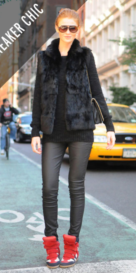 black-skinny-jeans-black-sweater-howtowear-style-fashion-fall-winter-black-vest-fur-red-shoe-sneakers-leather-hairr-sun-bun-weekend.jpg