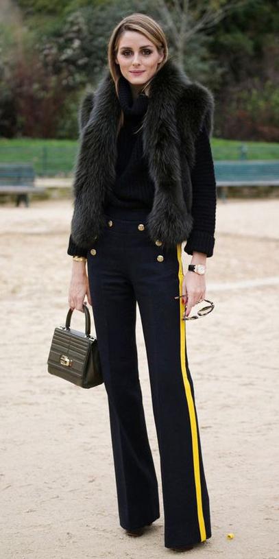 black-wideleg-pants-black-sweater-turtleneck-green-bag-trackpants-black-vest-fur-oliviapalermo-fall-winter-hairr-dinner.jpg