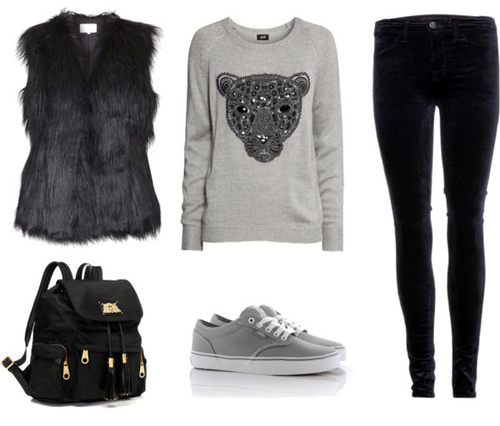 black-skinny-jeans-grayl-sweater-black-vest-fur-black-bag-pack-gray-shoe-sneakers-graphic-sweatshirt-howtowear-fashion-style-outfit-fall-winter-weekend.jpg
