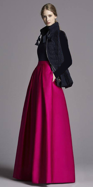 black-vest-puffer-black-sweater-bun-blonde-pink-magenta-maxi-skirt-fall-winter-dinner.jpg