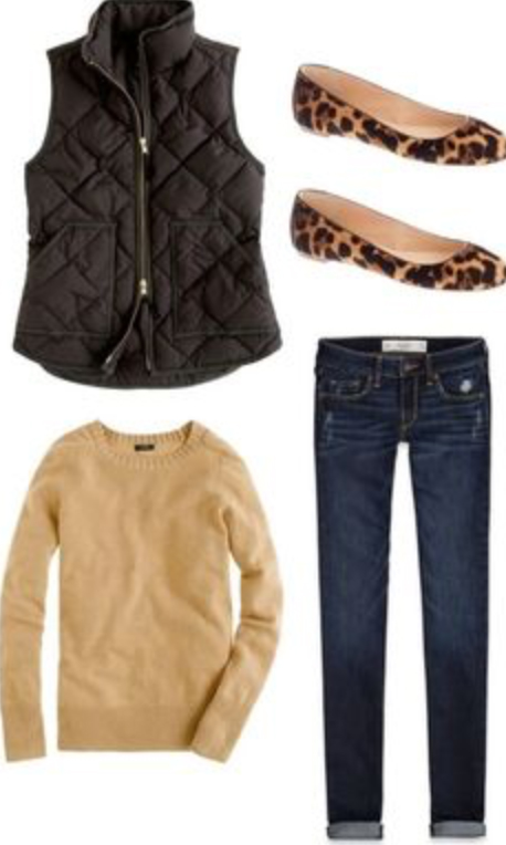 blue-navy-skinny-jeans-o-tan-sweater-black-vest-puffer-howtowear-fashion-style-outfit-fall-winter-leopard-tan-shoe-flats-weekend.jpg
