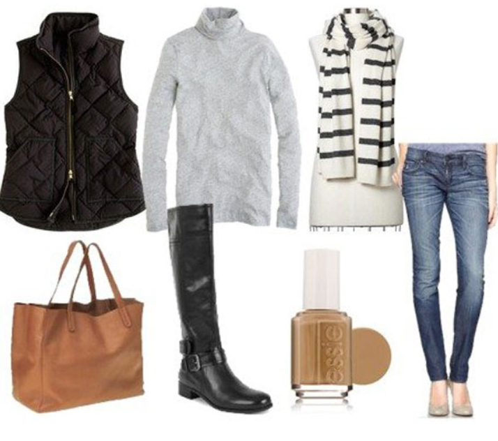 blue-med-skinny-jeans-grayl-tee-howtowear-fashion-style-outfit-fall-winter-black-vest-puffer-black-shoe-boots-white-scarf-nail-cognac-bag-tote-weekend.jpg