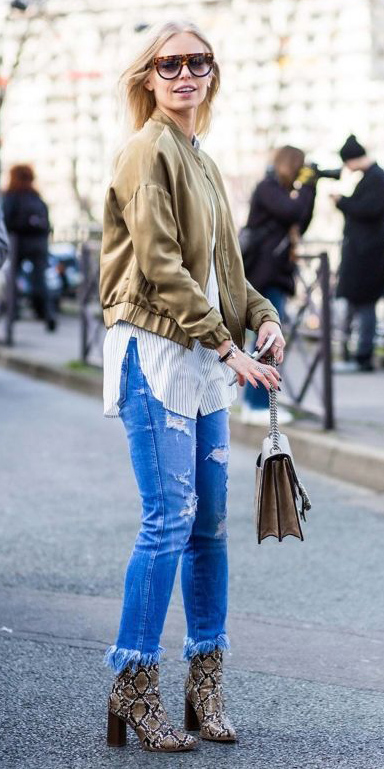 blue-med-skinny-jeans-tan-shoe-booties-tan-bag-white-collared-shirt-tan-jacket-bomber-blonde-sun-fall-winter-weekend.jpg