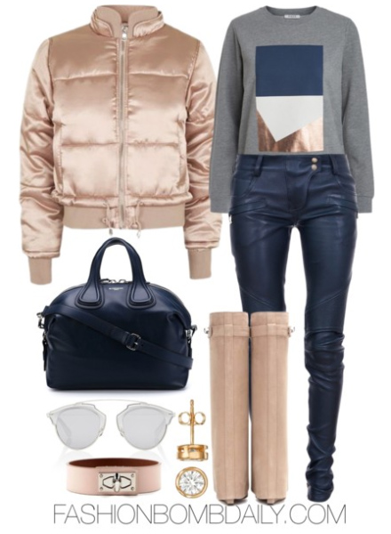 blue-navy-skinny-jeans-grayl-sweater-sweatshirt-graphic-blue-bag-tan-shoe-boots-studs-tan-jacket-bomber-gold-fall-winter-weekend.jpg