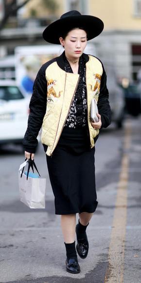 tan-jacket-bomber-gold-metallic-hat-socks-black-shoe-loafers-fall-winter-brun-lunch.jpg