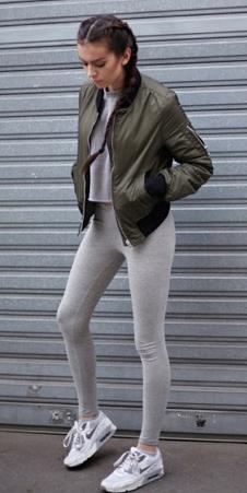 gray-leggings-green-olive-jacket-bomber-braid-white-shoe-sneakers-spring-summer-brun-weekend.jpg